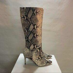 Steve Madden Kinga Fake Snake Skin Pointy toe heel boots
